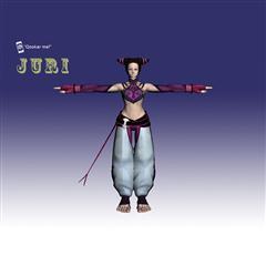 街霸人物模型系列 JURI