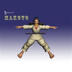 街霸人物模型系列 MAKOTO