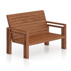 木质长条靠椅