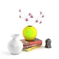 精美家居装饰用品   花瓶和图书