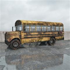 废弃公交车