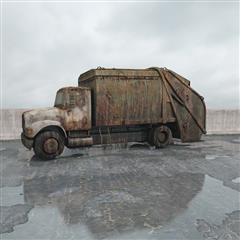废弃垃圾车
