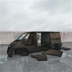 废弃商务车