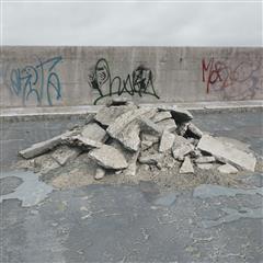废弃石料 石块堆
