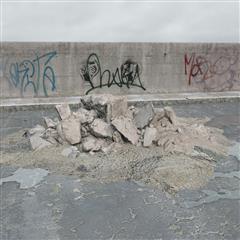 废弃建筑物残骸 碎石