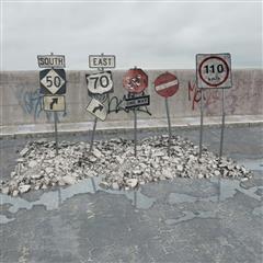 废弃指示牌 各类交通指示牌