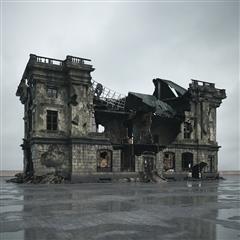 废弃房屋 半毁