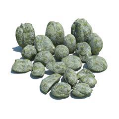 自然石头 墨绿色斑纹的石头