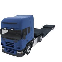 货车车头 蓝色 Truck head