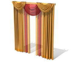 金黄色楣帘式窗帘