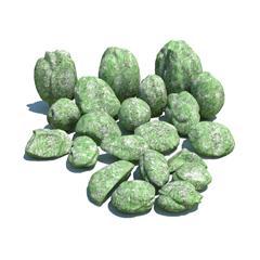 自然石头 绿色斑纹的石头